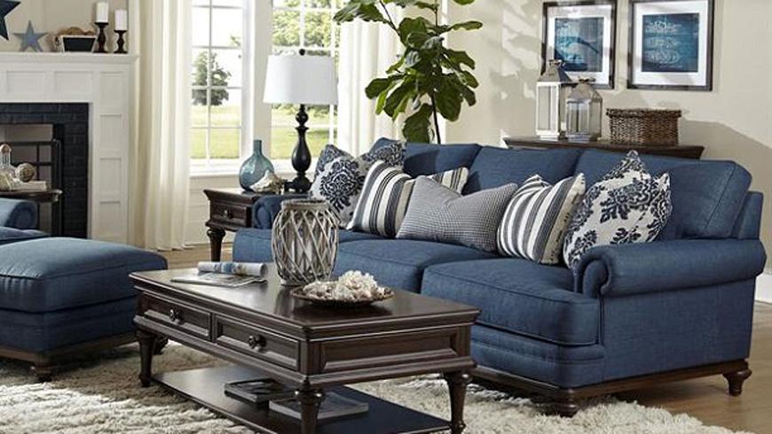Mẫu sofa nỉ phòng khách đẹp 2