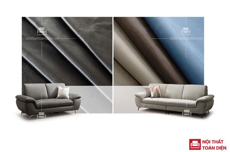 Sofa Nội Thất Toàn Diện - Một thiết kế hai chất liệu