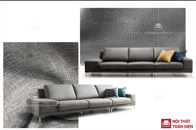 2 chất liệu làm 1 kiểu ghế sofa tại xưởng sản xuất sofa