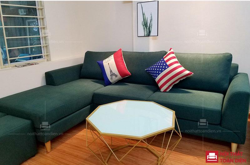 ghế sofa nỉ cho phòng khách chung cư đẹp