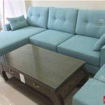 bộ ghế sofa góc nỉ mã 120 phòng khách chung cư an bình city