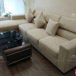 bộ ghế sofa bằng nỉ cho chung cư hiện đại