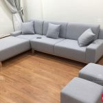ghế sofa góc nỉ đẹp cho phòng khách chung cư nhỏ tại hà nội