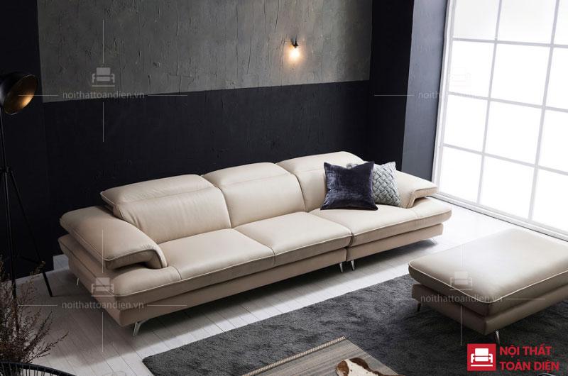 bộ ghế sofa văng phòng khách chung cư nhỏ An Bình sofa da mã 106