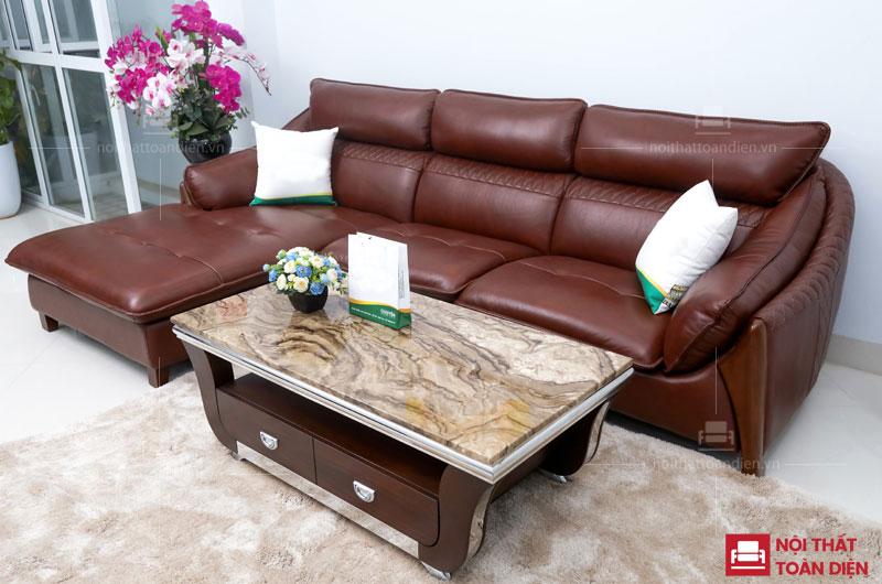 mẫu ghế sofa da phòng khách - sofa da bò cao cấp