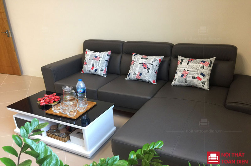 ghế sofa da phòng khách đẹp mã 150 sofa góc da đẹp