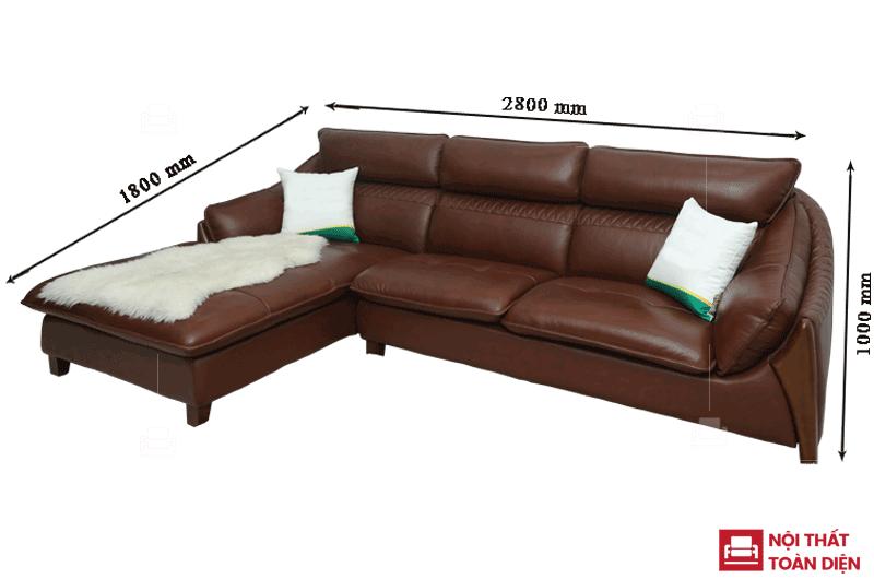 mẫu ghế sofa da phòng khách - sofa da bò cao cấp 3
