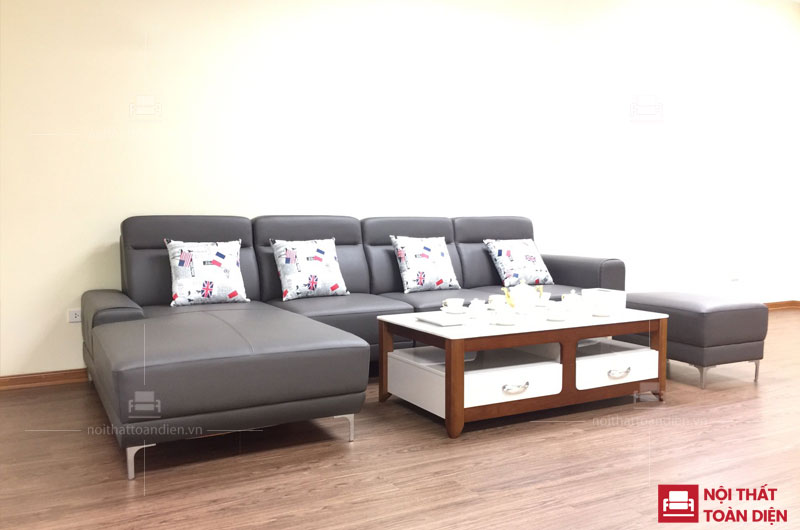 ghế sofa da đẹp-ghế sofa góc da phòng khách đẹp mã 152