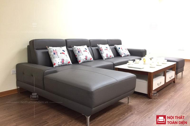 ghế sofa da đẹp phòng khách-ghế sofa góc da đẹp mã 152