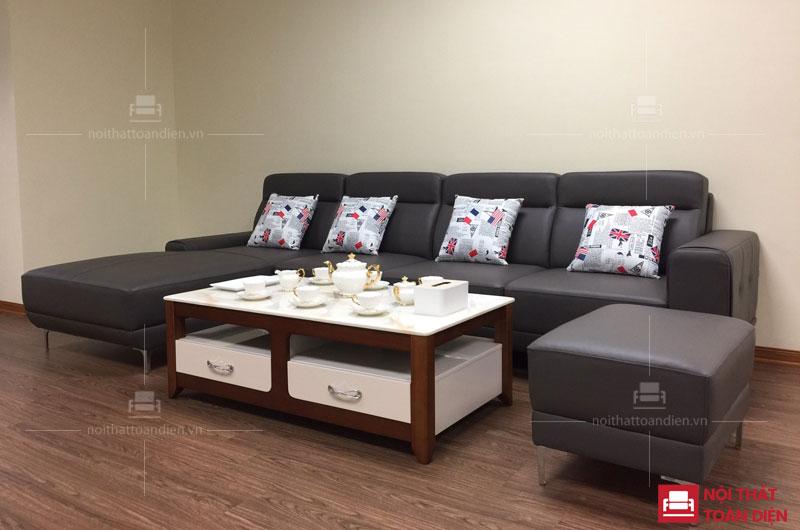 ghế sofa da phòng khách-ghế sofa góc da đẹp mã 152