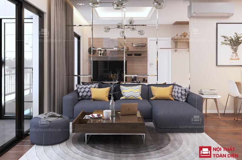 bộ ghế sofa góc nỉ giá rẻ cho chung cư tại hà nội
