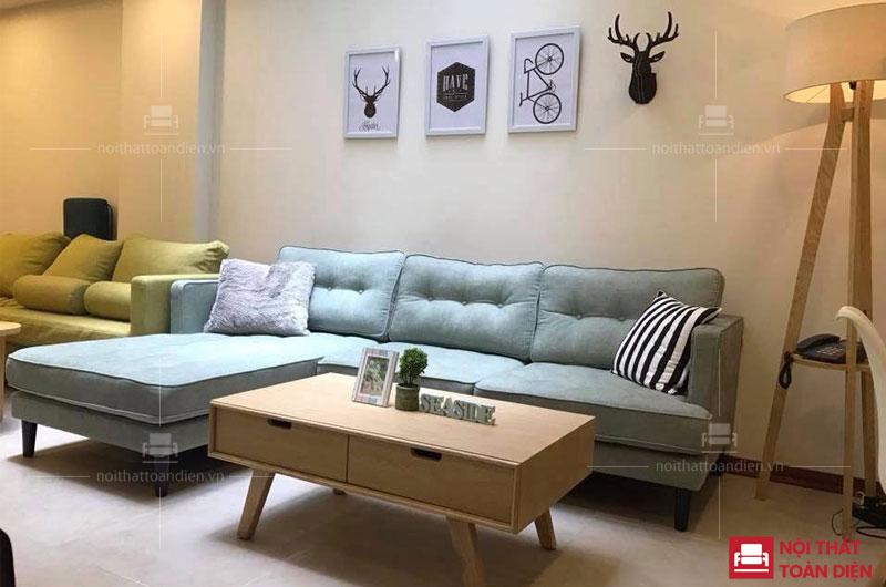 mẫu ghế sofa góc nỉ giá rẻ cho phòng khách tại hà nội